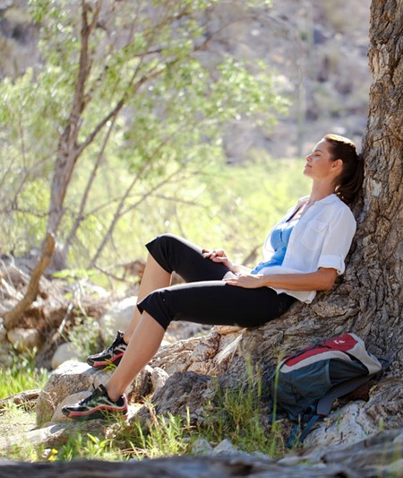 Simple practices such as taking breaks and allowing yourself to simply be can help people connect to something beyond themselves and to be more spiritual. Photo © Canyon Ranch.