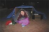 JIM MOREKIS - Sister Jackie Griffith in her cardboard 'tent'