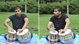"Tabla player Ashwin Inamdar is not a fan of strict Indian classical music. ""I like to open up,"" he says. ""The versatility, at the end of the day, I feel is the most important thing."" (Photos: Bill DeYoung)"