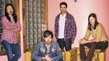 The boys in the band: Joe Kwon, left, Scott Avett, Bob Crawford and Seth Avett
