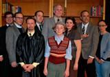 "The cast of ""Shadowlands"": Daniel Zuzalek, left, Christopher Blair, Mark Rand, Tim Hartman, Baker McKay (foreground), Karla Knudsen, Bill DeYoung and Trish McKay"