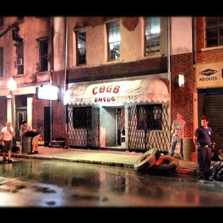 The CBGB shoot on Congress Street