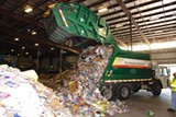 The City's extensive residential recycling process in action; such a service is unavailable for residents of unincorporated Chatham County.