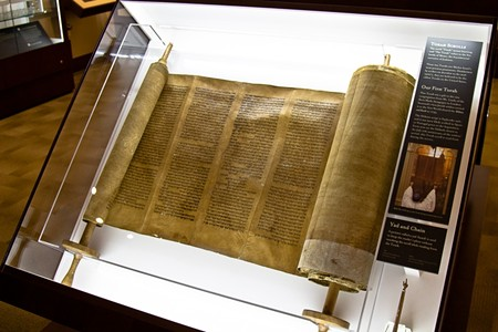 The crown jewels of the permanent exhibit are its oldest: Two deerskin Torah scrolls that date back to the 1400s - JON WAITS/@JWAITSPHOTO
