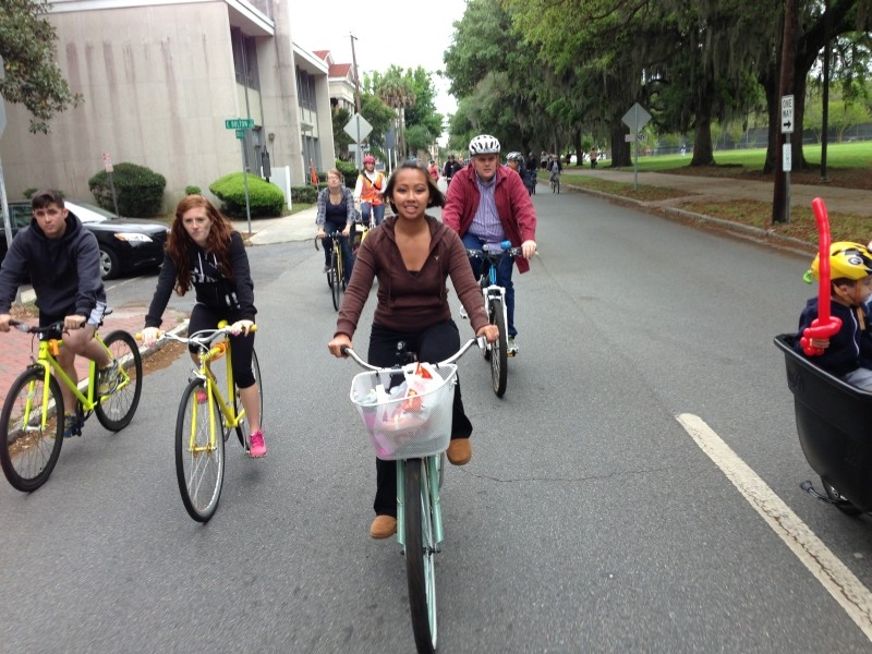 The Earth Day Wheelie was the first major event organized by the Savannah Bicycle Campaign and remains, in its eight year, one of the most popular. It departs from the south end of Forsyth Park at 3 p.m. this Saturday.