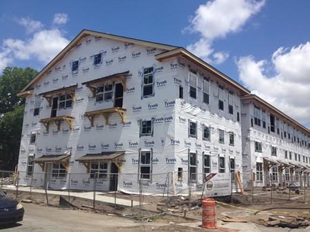 The future Savannah Lofts on East Broad Street.