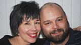 BILL DEYOUNG - The happy couple: Florence King and Kyle Price