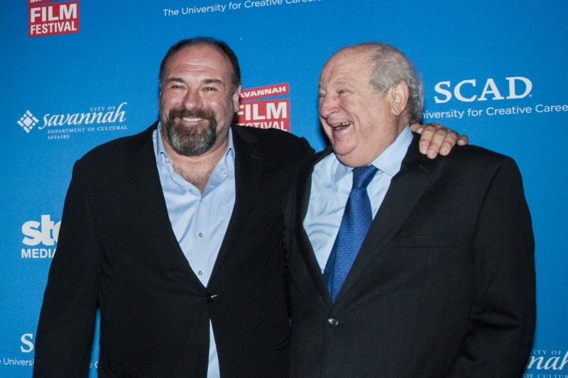 The late James Gandolfini and Bobby Zarem (right), during happier times at a previous Savannah Film Festival - GEOFF L. JOHNSON