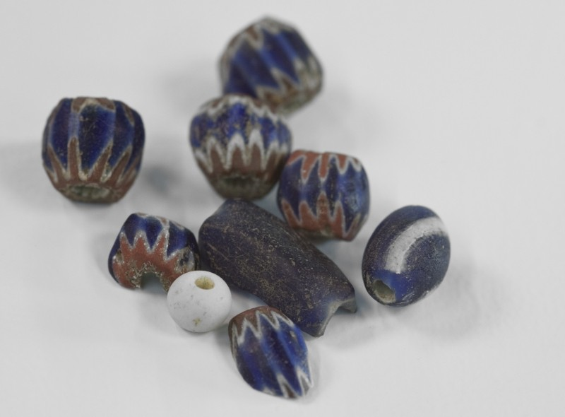 These glass beads are typical of the 16th Century finds coming from the Telfair County dig, too early for the Spanish Mission era in Georgia.