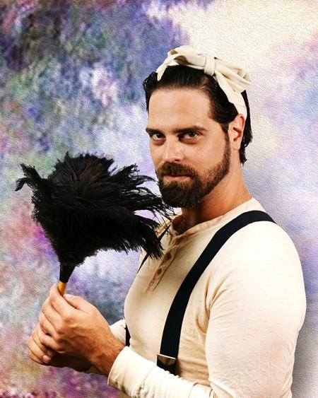 Wesley Pridgen as Gaston. Photo by Angelica Sorauf.