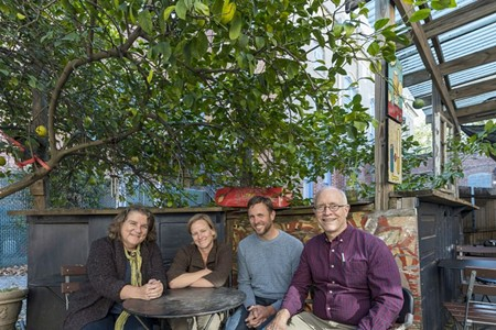 From left: Janie Brodhead, Kristin Russell, Brad Baugh, and Peter Brodhead.