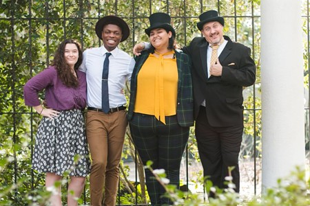 From left: Suni Strickland, Marquis Wilson, Luisa Nolasco and Bo Curler. Photo by Rachel Ussery.