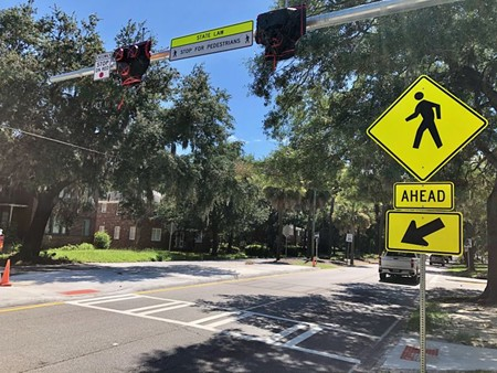 A new pedestrian crossing is being installed on Victory Drive at Cedar Street. Once operational, it will be safer and easier for residents of neighborhoods on the north side of Victory to reach Daffin Park.
