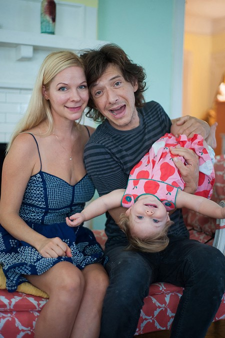 Keith with his wife Carrie and daughter Zelia