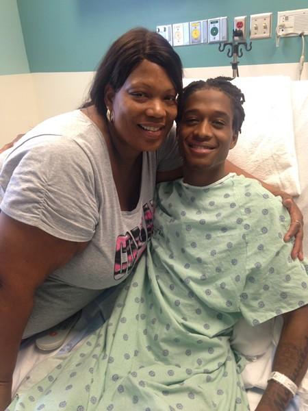 Semaj Clark and his mom, Cynthia.