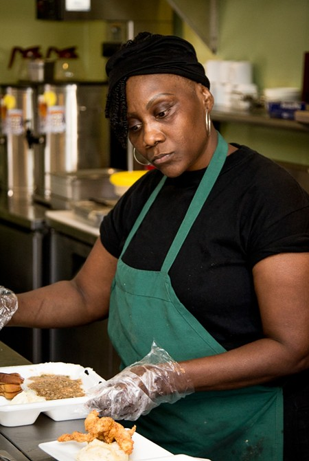 Narobia's owner Renée Reid serves up soul food with a healthy twist on Habersham. - JON WAITS/@JWAITSPHOTO