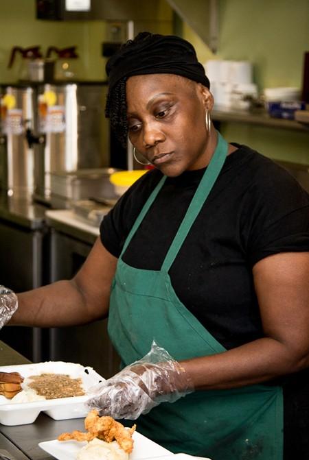Narobia's owner Renée Reid serves up soul food with a healthy twist on Habersham. - JON WAITS/@JWAITSPHOTO