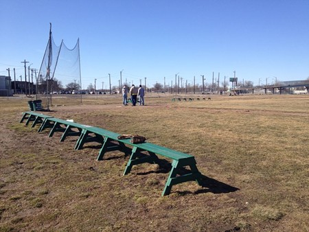 """The historic infield -- """"hallowed ground"""" -- is all that remains of the old Tiger Stadium in Detroit, now neglected but for the hard work of a few community volunteers."""