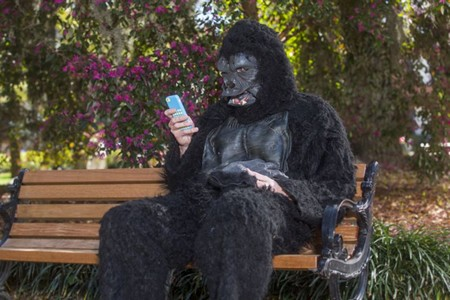 In this file shot from a previous edition of the Parade, BJ Love sees what email looks like through the eyes of a gorilla. - BOB JONES