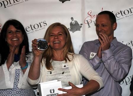 Soul Proprietor founder Debbie Brannigan (center) made the matches, aided by Marianne Ganem Poppell and last year's winning filmmaker, Will Hammargren. - PHOTOS BY WADE MALWITZ