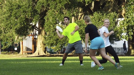 Ultimate is a no-contact, coed sport that is as challenging as you want to make it.