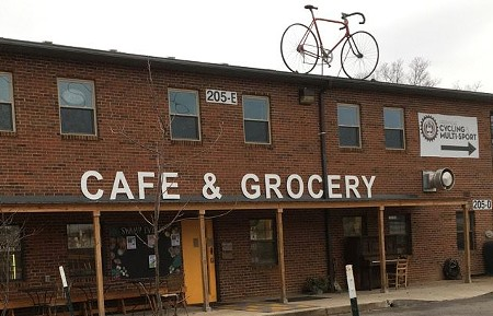The Swamp Rabbit Cafe and Grocery is one of many businesses that serve users of Greenville's greenway.