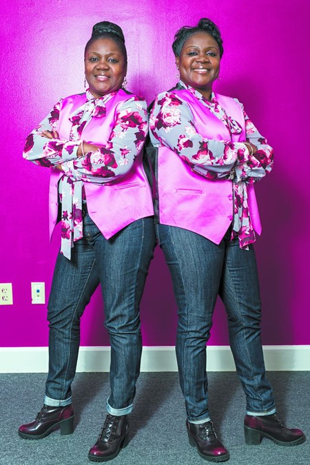 Identical twins Sylvia and Cynthia Whitfield are both breast cancer survivors; Cynthia has been confirmed to have the BRCA gene using the genetic testing research made possible by fundraisers like the Race for the Cure. - PHOTO COURTESY OF SUSAN G. KOMEN OF COASTAL GEORGIA