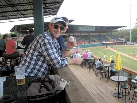 The late Matt Kohler enjoying a Sand Gnats game