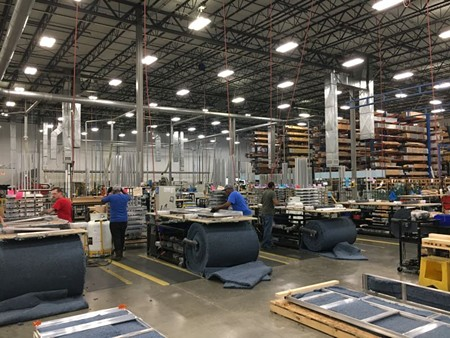 "At its warehouse near the Savannah airport, DIRTT employees—endearingly referred to as ""DIRTTbags""—fabricate around 300 frames a day."