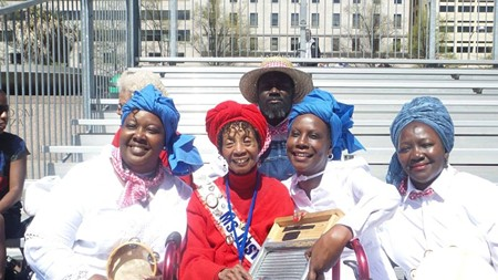 The Saltwata Players (L to R): Angela Bonaparte, Ms. Senior Washington DC, Roz Rouse, John Bush and Sistah Patt Gunn - GEORGIA MEDIA