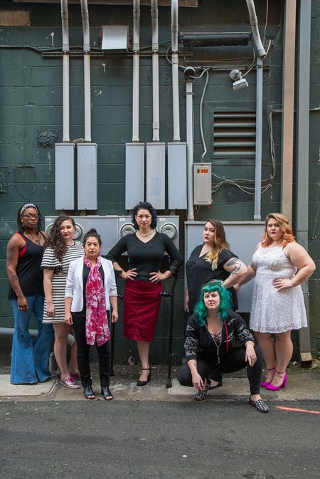Niema Ross, Lauren Schwan, JinHi Soucy Rand, Erin Muller, Kaya Fisher, and Katelynn Moore are all a part of Vagina Monologues' 11-member cast. - JON WAITS | @JWAITSPHOTO