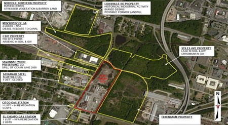 Summary of soil contamination in areas surrounding the arena site. Source: arena consultant's report