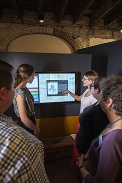 A new touchscreen kiosk explains the history of the house and everyone who lived and worked in it. - PHOTO BY GEOFF L. JOHNSON