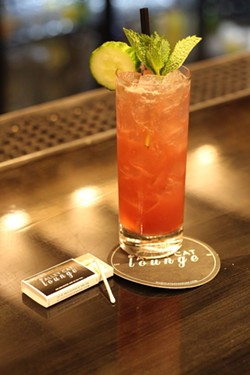 The Alley Cat Lounge's Pomegranate - Cucumber Southside