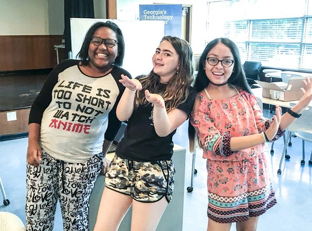 Girls Who Code Savannah members, with co-founder Sage Batchelor in the middle.