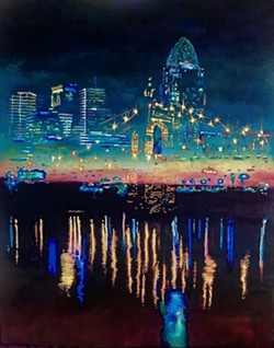"""""""The City Replaces the Stars"""" by Lillian Kroencke."""
