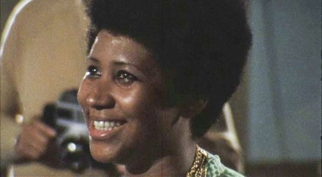 Aretha Franklin in a still from 'Amazing Grace.'