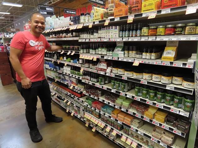 Martin Bell, CBD product expert at Lucky's Market