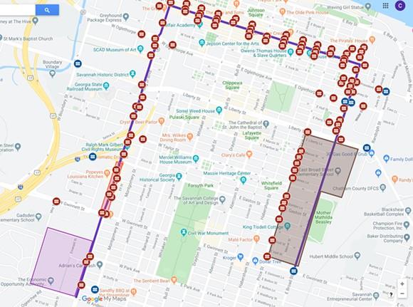 SSU Homecoming Day Parade map