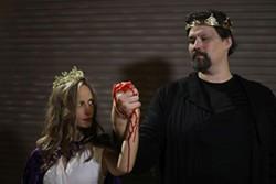 Lady Macbeth is Casey Bessette, Macbeth is Chris Soucy - PHOTO BY MEGAN JONES
