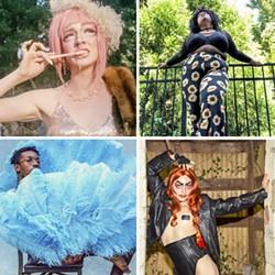 Clockwise from top left: Anne Drogynous, Loni Ray, Aariel Elritch and Corbin Monoxide.