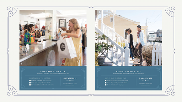 Samples of the campaign's marketing material.