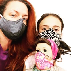 Lane Huerta with her daughter Clementine.