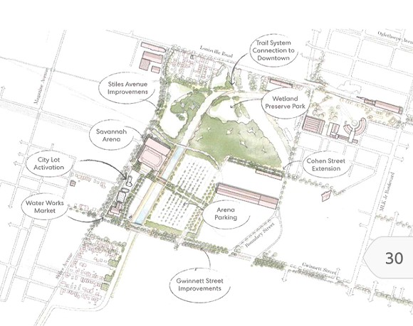 An inset from the Canal District Master plan.