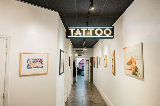 Tattoo studios are one of the businesses allowed to reopen, and they have a difficult choice to make. Photo courtesy of The Butcher Tattoo Studio.