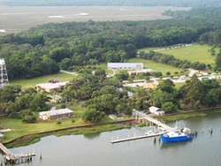Aerial view of the Skidaway campus.