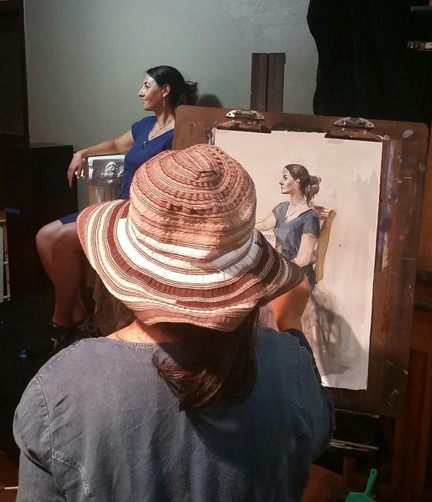 Figure life modeling at the Studio School.