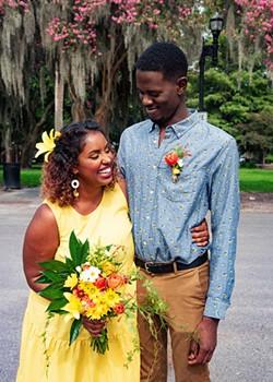 Newlyweds Asli and Jeffrey. Photo by Shaye Garrigan.