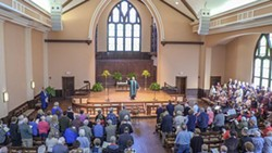 Rev. Billy Hester leads the Asbury congregation.