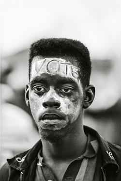 """VOTE, Selma March"" by Steve Schapiro, 1965. Copyright of the artist and courtesy of Laney Contemporary, Savannah, and Jackson Fine Art, Atlanta."